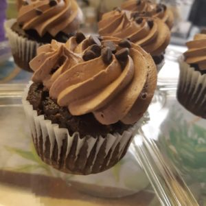 vegan cupcake - chocolate